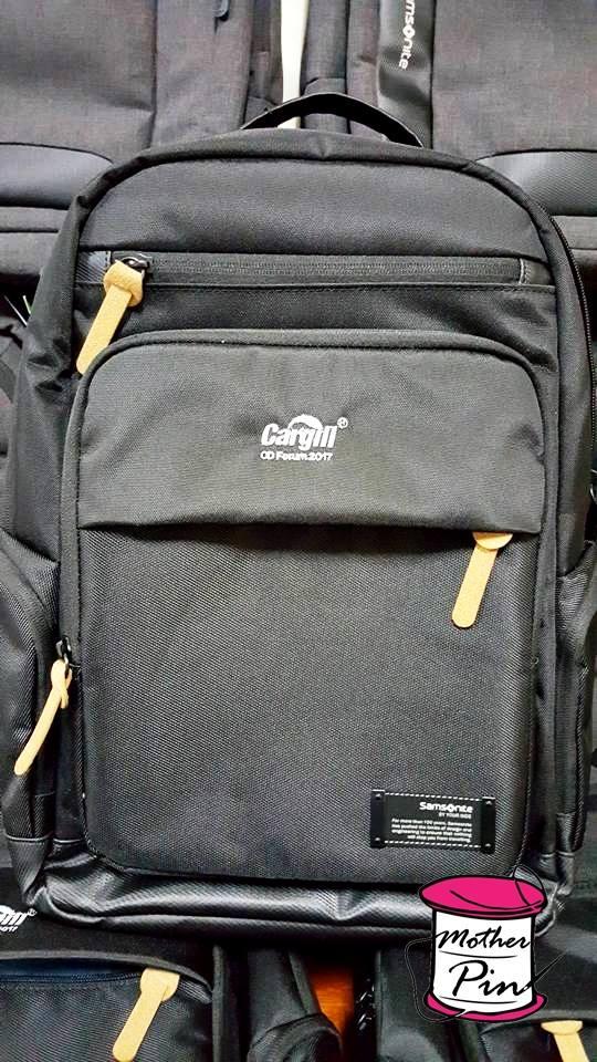 งานปักกระเป๋า เป้ samsonite บริษัท Cargill