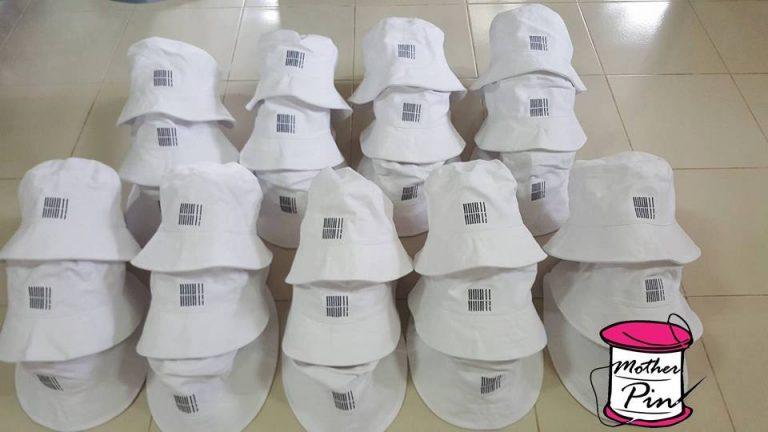 งานปักหมวกบัคเก็ต