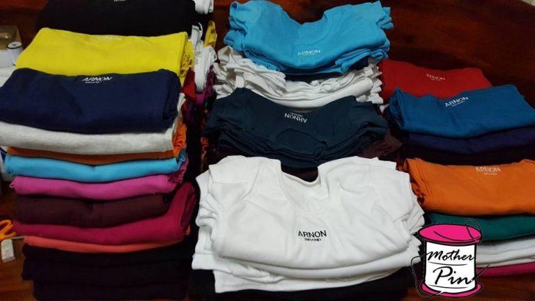 งานปักเสื้อยืดร้านค้าจำนวนมาก