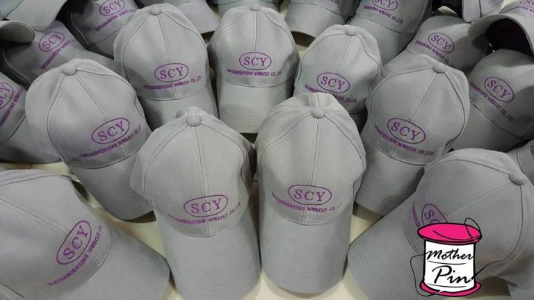 งานปักหมวกแก๊ปผ้า บริษัท SCY