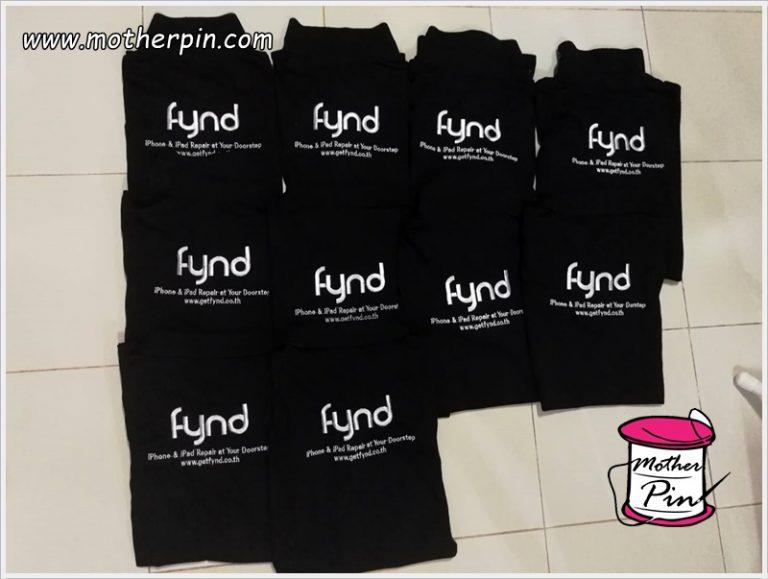 งานปักเสื้อโปโลบริษัท fynd