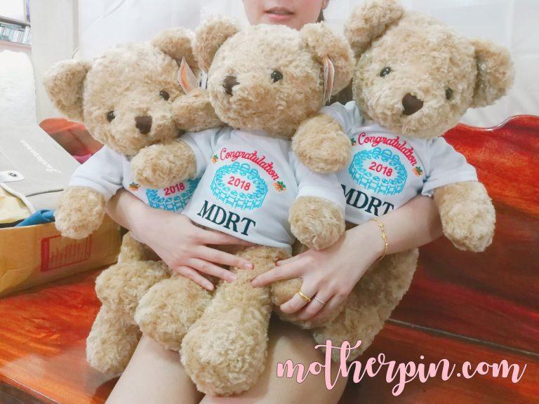 โปรโมชั่น ตุ๊กตาหมี คุณภาพดีพร้อมปักชื่อ