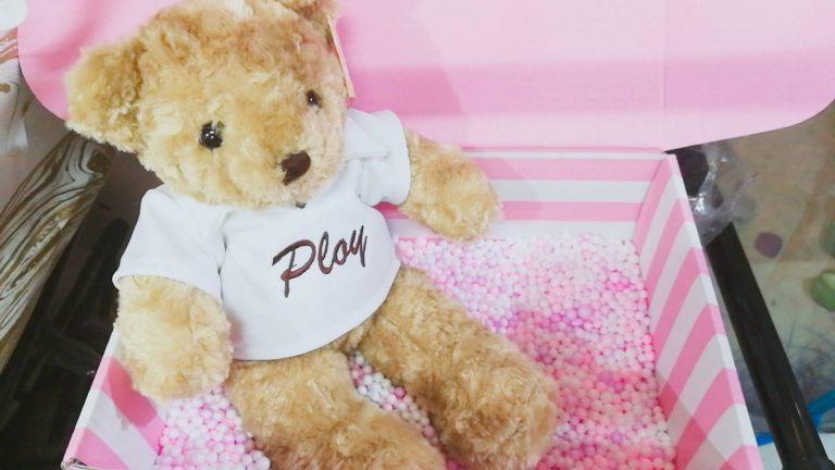 ตุ๊กตาหมีพร้อมปักชื่อ ของขวัญพิเศษวาเลนไทน์