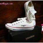 รับปักรองเท้าผ้าใบ converse