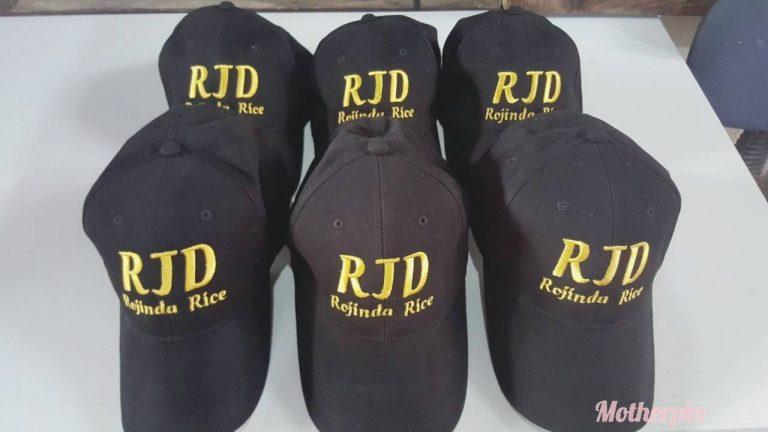 งานปักหมวกผ้า RJD