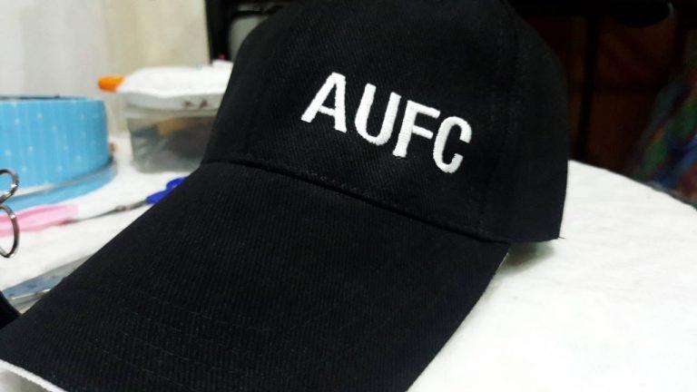 งานปักหมวกแก๊ปผ้า AUFC