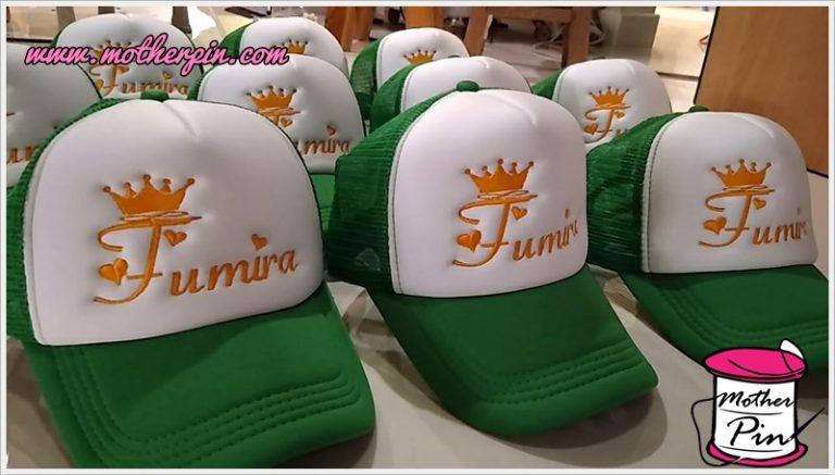 งานปักหมวกร้าน Fumira