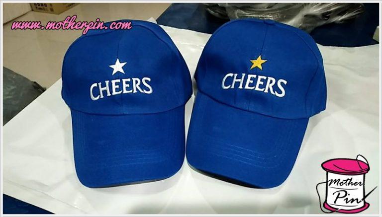 งานปักหมวก CHEERS