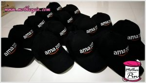 งานปักหมวก Amazon
