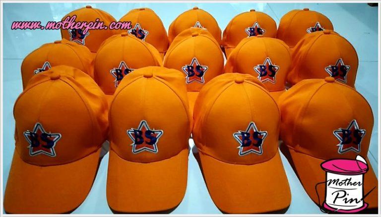 งานปักหมวกแก๊ปผ้า BS