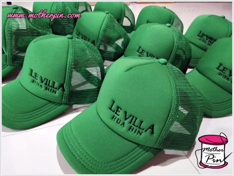 งานปักหมวกโฟม LE VILLA HUA HIN