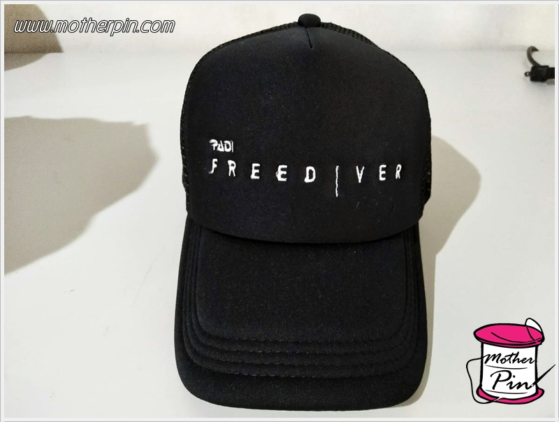 ขายหมวกพร้อมปักจำนวนมาก PADI Free Diver