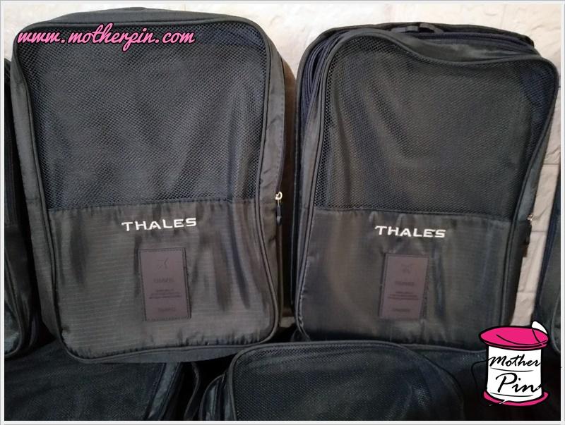 รับปักกระเป๋ารองเท้า THALES