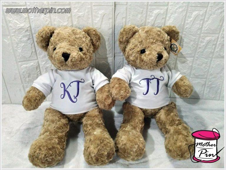 ขายตุ๊กตาหมีพร้อมปักชื่อ