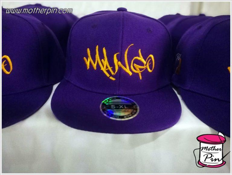 งานปักหมวกฮิปฮอปสองตำแหน่ง Mango
